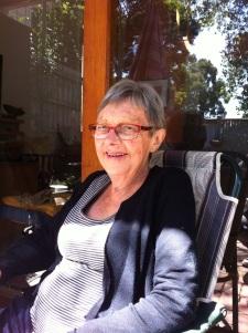 Mum enjoying some sunshine