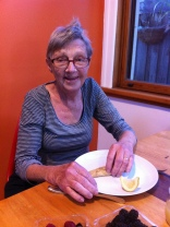 Crepes with lemon and sugar - a favourite