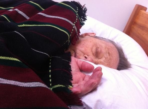 Mum peacefully sleeping